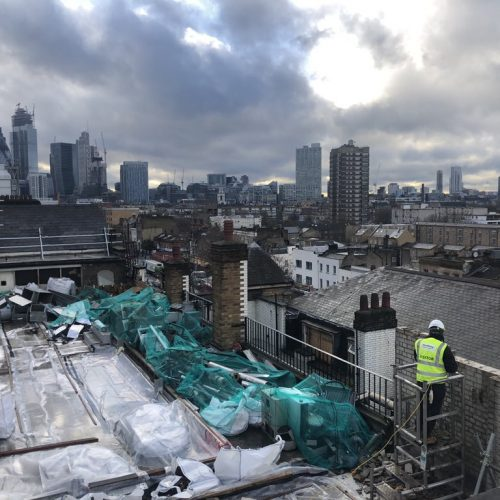 12.03.2019 Tower Hamlets Rooftop View prior to roof replacement works